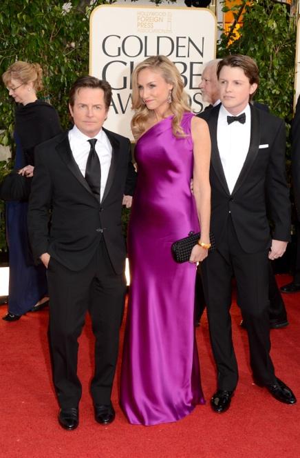 Micheal J Fox, esposa e hijo