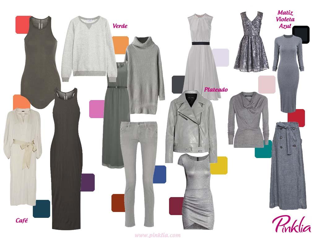 prendas combinaciones gris pinklia tu portal favorito