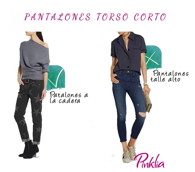 Tips para vestir el torso corto con pantalones