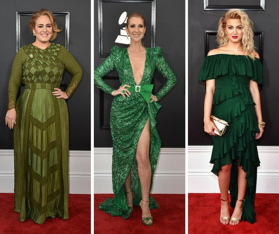 El verde fue una tendencia en la alfombra roja