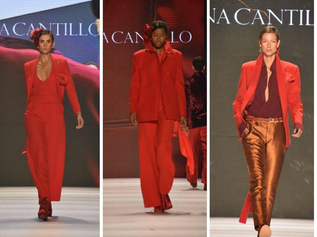 El rojo fue protagonista en la pasarela de Lina Cantillo