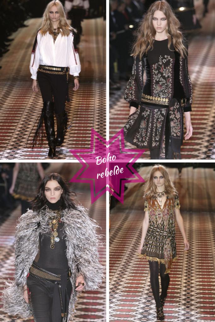 Colección otoño invierno 2008 Gucci. Un estilo bohemio con una marcada tendencia rockera. Otra interpretación de estilo